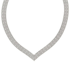 """Imperial Silver 18"""" Mirror Wheat V Necklace, 54.2g"""