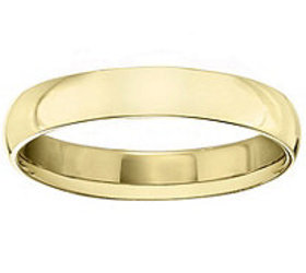 Men's 14K Yellow Gold 4mm Polished Comfort FitWedd