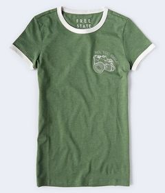 Free State No You Smile Ringer Graphic Tee