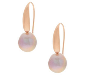 Honora Ming Cultured Pearl Drop Earrings, Sterling