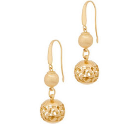 Arte d' Oro Satin & Polished Filigree Bead Earring