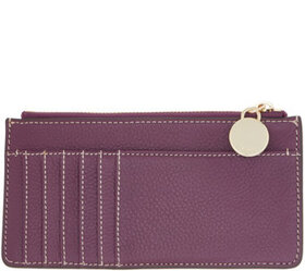G.I.L.I. Leather Zip Top Card Case - Lucca - A3428