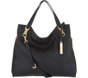 """As Is"" Vince Camuto Lamb Leather Tote Handbag- El"