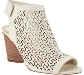 Vince Camuto Perforated Leather Peep- Toe Sandals