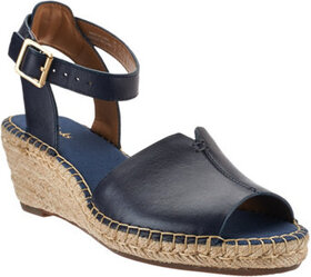 """""""As Is"""" Clarks Artisan Leather Espadrille Wedge Sa"""