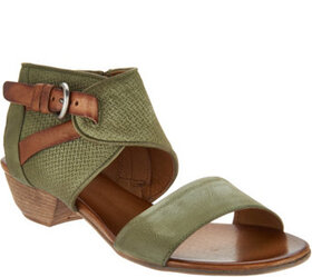 """As Is"" Miz Mooz Leather Buckle Sandals- Cheerful"