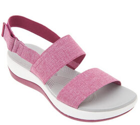 """As Is"" CLOUDSTEPPERS by Clarks Sport Sandals- Arl"