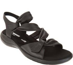 """""""As Is"""" Clarks Leather Light Adjustable Sandals- S"""