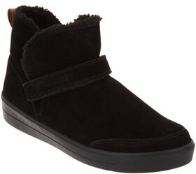 Ryka Water-Repellant Suede Ankle Boots - Valee - A