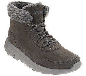 Skechers On-the-GO Lace-Up Suede Boots - City 2 -