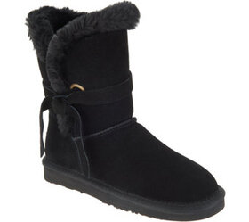 Lamo Water & Stain Resistant Suede Tassel Mid Boot