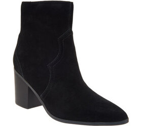 Isaac Mizrahi Live! Leather or Suede Western Booti