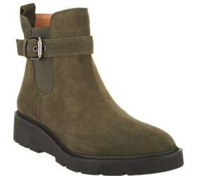 Franco Sarto Suede Side Buckle Ankle Boots - Merid