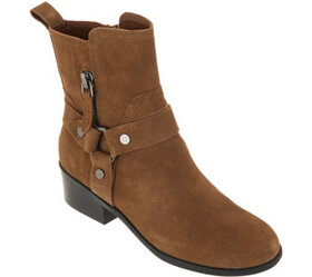 Marc Fisher Leather or Suede Harness Side Zip Boot