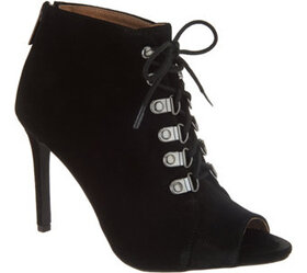 G.I.L.I. Peep-Toe Lace-Up Booties - A311486