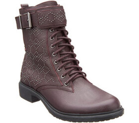 Vince Camuto Leather Lace-up Mid Boots - Tanowie -