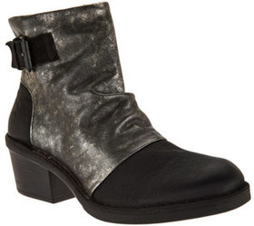 FLY London Leather Block Heel Boots - Dape - A2839