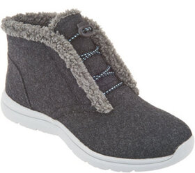 Ryka Felted Faux Shearling Bungee Boots - Everest