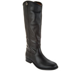 Frye Wide Calf Leather Tall Boots - Melissa Button