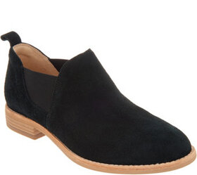 """""""As Is"""" Clarks Leather Slip-on Booties- Edenvale P"""