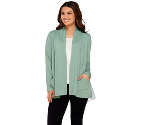 LOGO Lounge by Lori Goldstein Cardigan with Layere