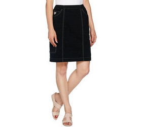 """As Is"" Quacker Factory DreamJeannes Pull-On Skort"