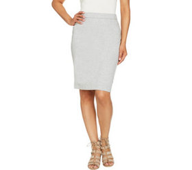 """""""As Is"""" Susan Graver Weekend French Terry Skirt -"""