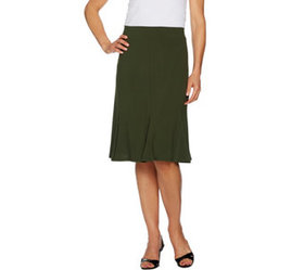 """""""As Is"""" Susan Graver Textured Liquid Knit Skirt wi"""