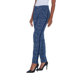Dennis Basso Printed Stretch Woven Full Length Pan