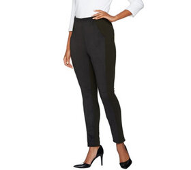 Kelly by Clinton Kelly Reg Pull-On Ponte Pants wit