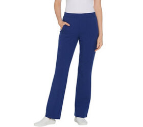 Denim & Co. Active Petite French Terry Lightly Boo