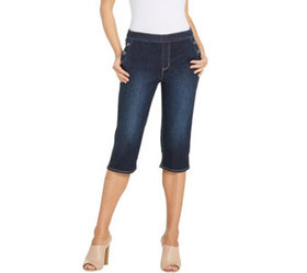 """As Is"" Susan Graver High Stretch Denim Pull-On Pe"