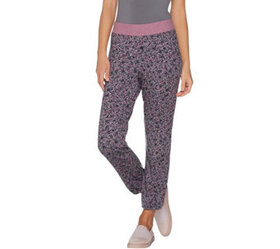 LOGO Lounge by Lori Goldstein French Terry Jogger