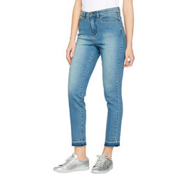 Studio by Denim & Co. Ankle Jeans with Undone Hem