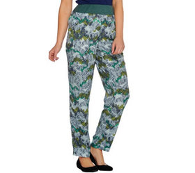 LOGO by Lori Goldstein Printed Challis Pants with