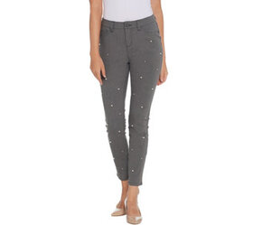 G.I.L.I. Dual Stretch Denim Jeggings with Faux Pea