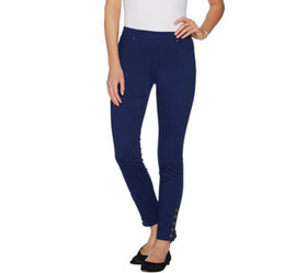 """""""As Is"""" Susan Graver Stretch Sateen Pull-On Leggin"""