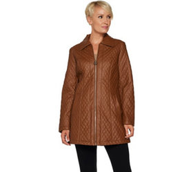 """""""As Is"""" Dennis Basso Diamond Quilted Faux Leather"""