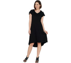 H by Halston Regular Knit Crepe Dress with Cutout