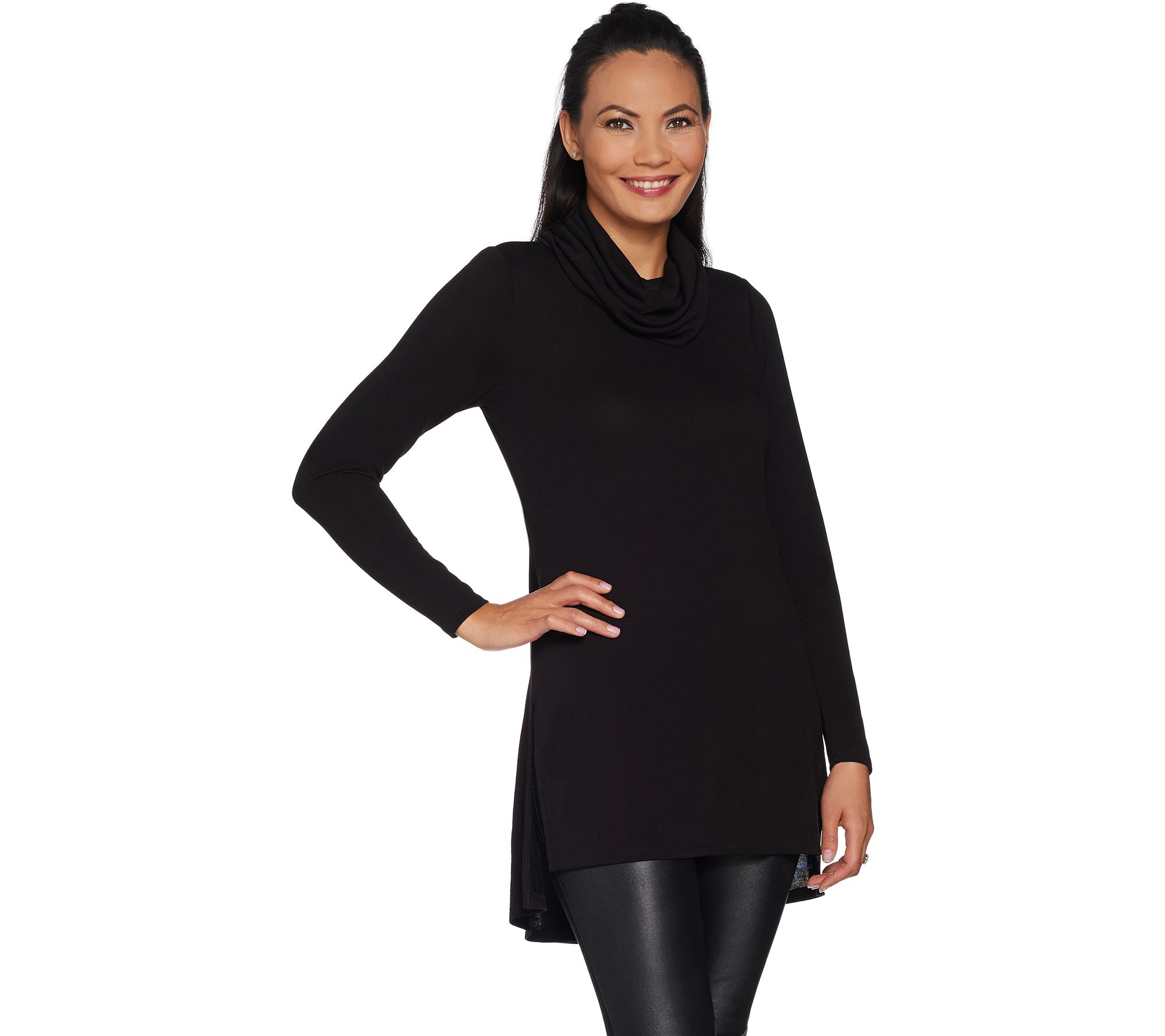 Lisa Rinna Collection Regular Cowl Neck Tunic with
