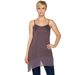 LOGO Layers by Lori Goldstein Solid Camisole with