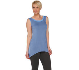 LOGO by Lori Goldstein Color-Block Knit Tank with