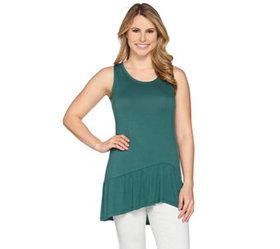 LOGO Layers by Lori Goldstein Knit Tank with Asymm