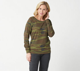 Alternative Apparel Eco Jersey Printed Slouchy Pul