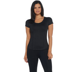 Susan Lucci Collection Scoop Neck Cap Sleeve Top w
