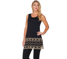 """""""As Is"""" LOGO by Lori Goldstein Knit Tank with Two-"""