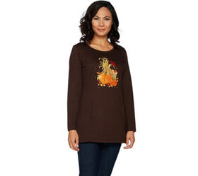 """As Is"" Quacker Factory Autumn Harvest Long Sleeve"