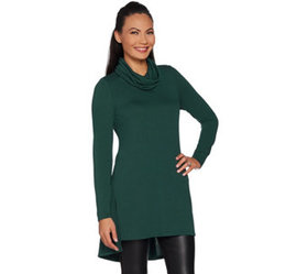 """As Is"" Lisa Rinna Collection Regular Cowl Neck Tu"