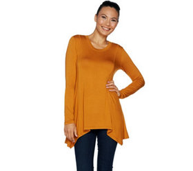 """""""As Is"""" LOGO by Lori Goldstein Long Sleeve Solid T"""