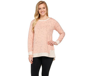 LOGO Lounge by Lori Goldstein Space Dye Top with H